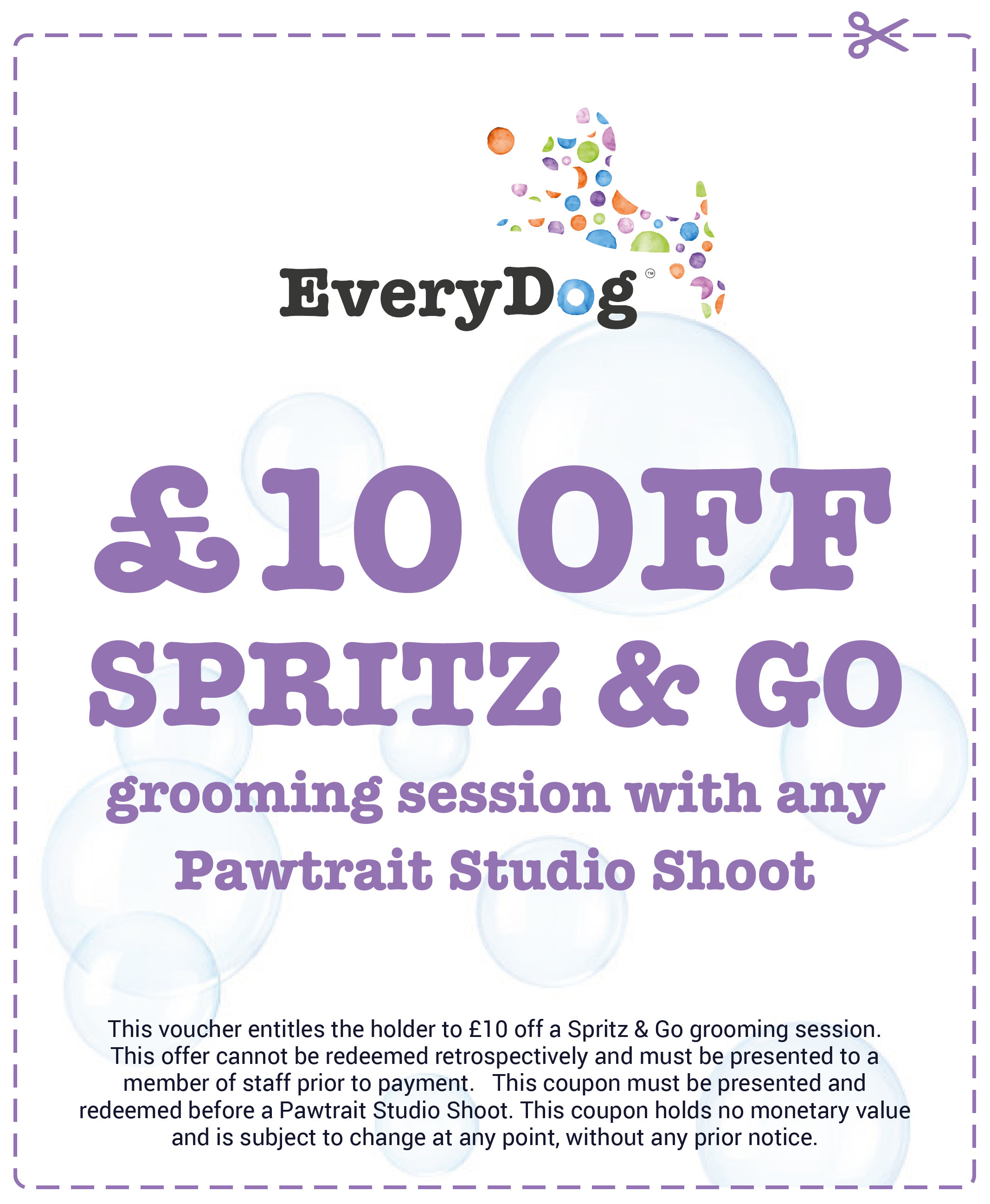 EveryDog £10 Off Grooming Voucher and Coupon